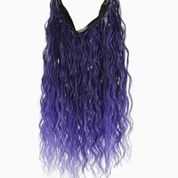 "Uniwigs® 20"" Ombre Purple Curly Heat Friendly Synthetic Flip & Clip in Hair Extension"