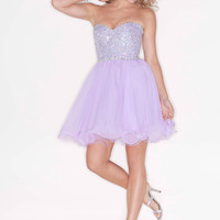 Sweetheart Beaded Homecoming Dress Sticks & Stones 9204