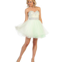Green Short Strapless Sweetheart Sequin Dress 2015 Homecoming Dresses