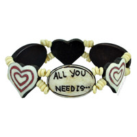 All You Need - Stretch Bracelet on Sale for $7.99 at HippieShop.com