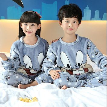 pyjamas kids Boys Girls Winter Sleepwear Children Clothes Kids Pajamas Sets Soft Girls Boys pajamas kids Nightwear Homewear