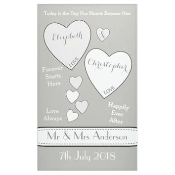 Wedding Backdrop Photo Booth Gray and White Banner