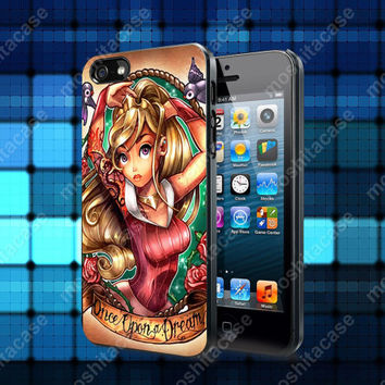 Princess Disney Tattoo Case For iPhone 5, 5S, 5C, 4, 4S and Samsung Galaxy S3, S4