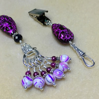 Portuguese Knitting Gift Set- Purple Pin & Stitch Marker Set