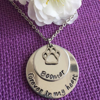 Pet Memorial Jewelry - Dog Memorial Necklace - Pet Loss Gift - Forever in my Heart - Dog Remembrance Necklace - In Memory of Dog - Dog remem