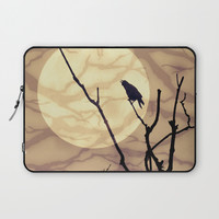 The Crow, The Moon, The Shadows Laptop Sleeve by minx267