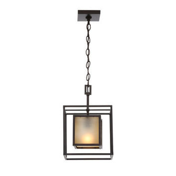 World Imports Hilden Collection 1-Light Aged Bronze Hanging Pendant WI411255 at The Home Depot - Mobile