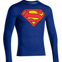 Under Armour Men's Alter Ego Superman Compression Long Sleeve Shirt