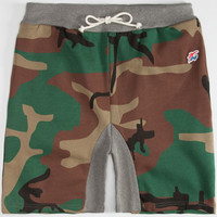 Hall Of Fame Core Mens Sweat Shorts Camo  In Sizes