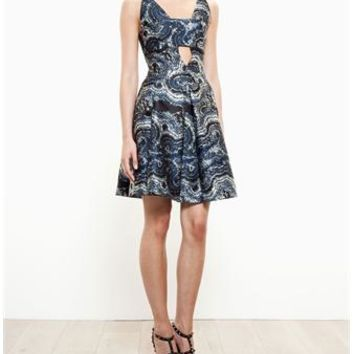 OSMAN | Marble Jacquard Dress | brownsfashion.com | The Finest Edit of Luxury Fashion | Clothes, Shoes, Bags and Accessories for Men & Women