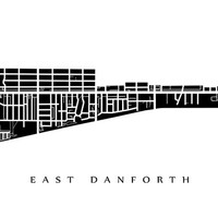 East Danforth Map - Toronto Neighbourhood Art Print