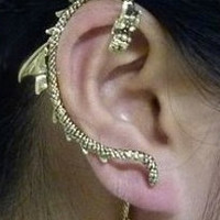 Game of Thrones Dragon Ear Cuff Earring, Gold Ear Cuff, Dragon Ear Cuff, Ear Wrap