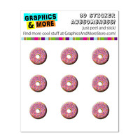 Pink Donut - Sprinkles iPhone iPad iPod Home Buttons