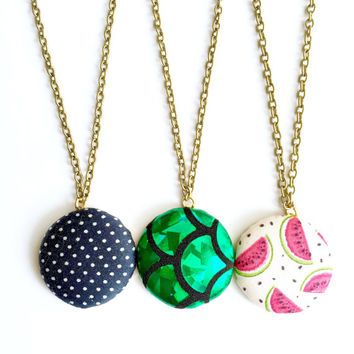 Best fabric necklace etsy products on wanelo for Bulk jewelry chain canada