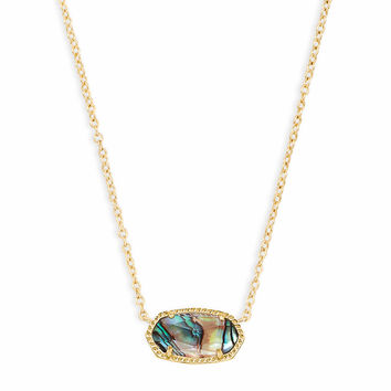 Elisa Gold Pendant Necklace, Pink Opal | Kendra Scott