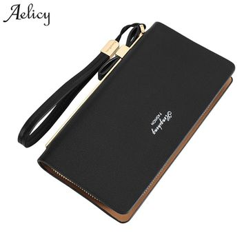 Aelicy Zipper Clutch Wallet Women Long Wallets Money Purse Large Capacity Female Wallet Organizer Card Holder Phone Coin Purse