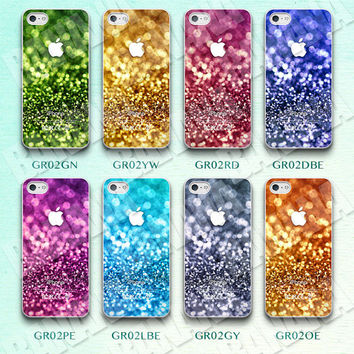 Glitter, Colorful, Bling, iPhone 5 case, iPhone 5S case, iPhone 5c case, Phone case, iPhone 4 Case, iPhone 4S Case, Phone Skin, Print, GR02