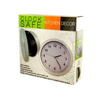 Kitchen Wall Clock Safe