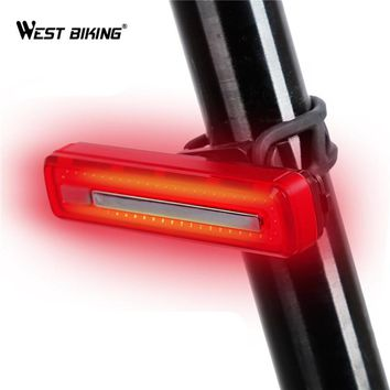 WEST BIKING Bicycle Taillight USB Rechargeable Waterproof Riding MTB Rear lamps Super Bright Safety Night Warning Bike Light