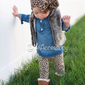 Cheetah Headband, Girls Head wrap, baby headwrap, Toddler Headwrap, Infant-Adult