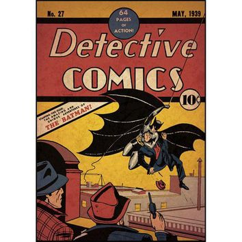 Batman First Issue DC Comic Book Cover Giant Wall Accent