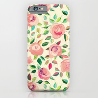 Pastel Roses in Blush Pink and Cream  iPhone & iPod Case by Micklyn