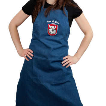 Vaer Sa God! Denim Apron Scandinavian Gift Idea