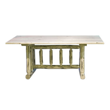Montana Woodworks    MWDTV Montana Lacquered Dining Table Trestle Based