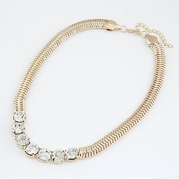 N732 Punk Chokers Necklaces Short Chain Crystal Necklace Women Fashion Jewelry Collares Bijoux Best Selling