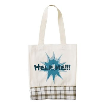 Blue bullet hole. Add your text. Zazzle HEART Tote Bag