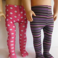 18 inch Doll Clothes fits American Girl - Pattern Tights