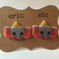 Handmade Plastic Fandom Earrings - Dumbo