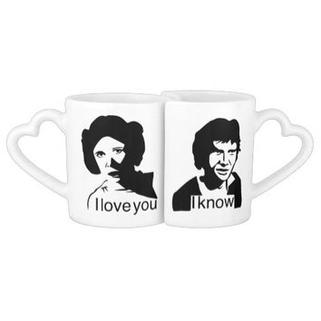I Love you, I know Mug Wars STar Couples' Coffee Mug Set