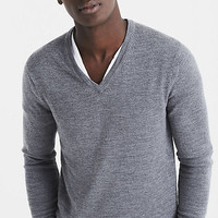 Merino Wool V-neck Sweater from EXPRESS