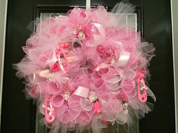 Baby shower decoration baby girl from occasionsboutique for Baby shower door decoration