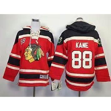 Original Chicago Blackhawks #88 Patrick Kane Fleece Hooded Jersey Old Time Hockey Hoodies Sweatshirts