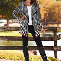 Mixed Print Cardigan