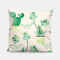 Cactus Pattern Pillow, Live Heroes