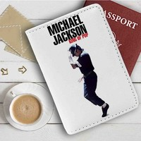 Michael Jackson King of Pop Leather Passport Wallet Case Cover