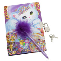 Lisa Frank Kitty Tiara Journal Set