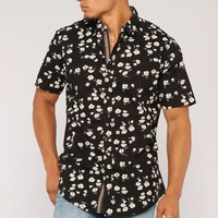 Scott Short Sleeve Woven Shirt - Black