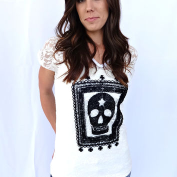 Lace and Skull Top