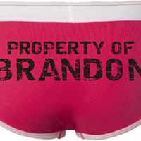 Womens Brief Custom Personalized Property Of by kimberlymanning