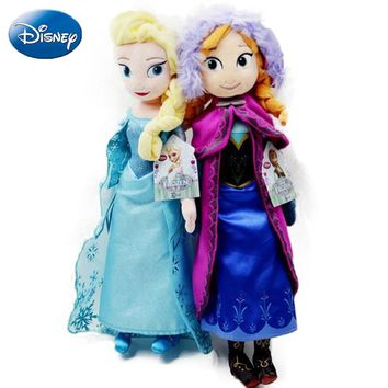 Disney Frozen 50 CM Queen Elsa Stuffed Doll Princess Anna Toys Stuffed Plush Kids Toys Gift Girl Christmas Soft Security