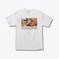 Diamond Lips Tee in White