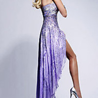 Sherri Hill Strapless Sequin Pageant Gown