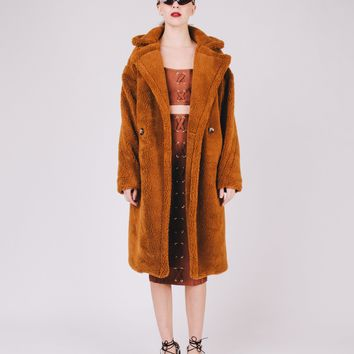 Caramello Oversized Teddy Coat