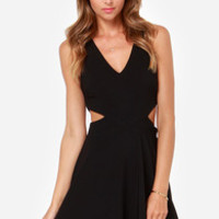 Midnight Hourglass Black Dress