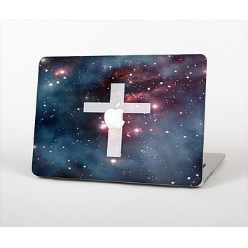 """The Vector White Cross v2 over Red Nebula Skin Set for the Apple MacBook Pro 15"""" with Retina Display"""