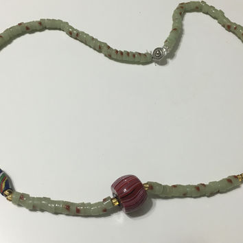 Kyerewaa handmade African trade bead necklace